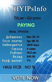 Star-Gross Monitoring details on HYIPsInfo.com