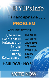 Financeprime Inc Monitoring details on HYIPsInfo.com