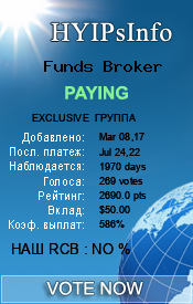 Funds Broker Monitoring details on HYIPsInfo.com