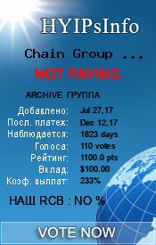 Chain Group Service Monitoring details on HYIPsInfo.com