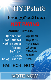 EnergyAceGlobal Monitoring details on HYIPsInfo.com