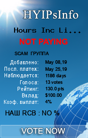 Hours Inc Limited Monitoring details on HYIPsInfo.com