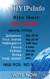Bits Chain Monitoring details on HYIPsInfo.com