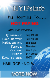My Hourly Forex LTD Monitoring details on HYIPsInfo.com