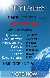 Mega Crypto Group Limited Monitoring details on HYIPsInfo.com