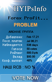 Forex Profits Ltd Monitoring details on HYIPsInfo.com